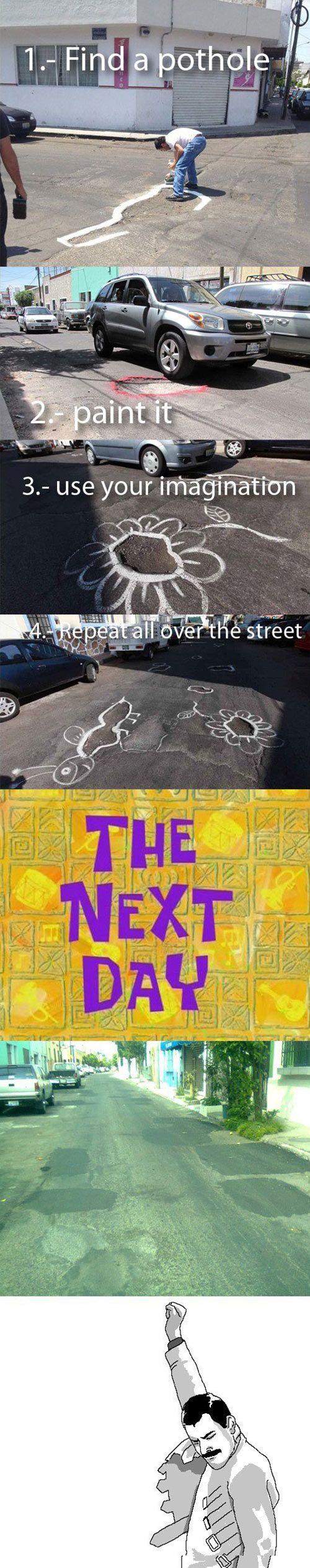 How to fix potholes like a boss