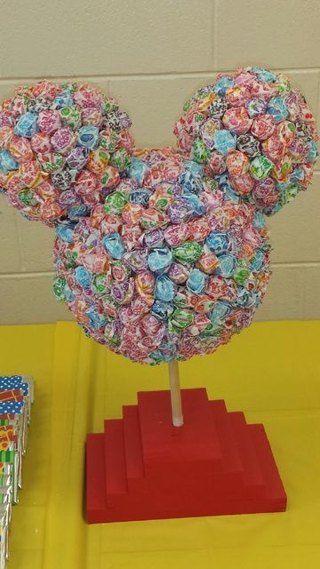 Mickey Mouse Clubhouse Birthday Party Dum Dum Decoration! See more party ideas at CatchMyParty.com!