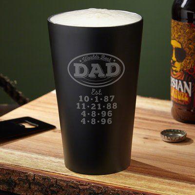 Home Wet Bar Worlds Best Dad 16 oz. Stainless Steel Pint Glass