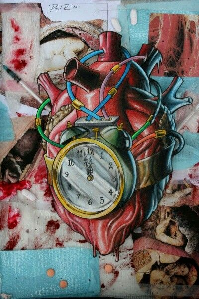 my <3 is a time bomb - or an alarm clock:D really impressive tat btw.