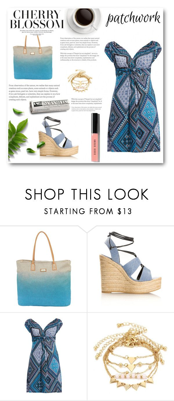 """""""gf"""" by sunshine-189 ❤ liked on Polyvore featuring Sun N' Sand, Yves Saint Laurent, Bobbi Brown Cosmetics, patchwork and plus size dresses"""