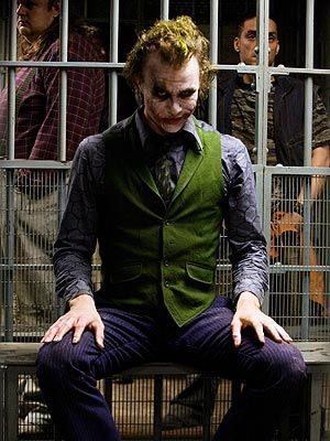 Maybe I need to go to Arkham, but I thought that Heath made the Joker stunningly attractive and alluring.