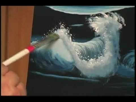 How to Paint Water - Crashing Waves (though his voice it's iritating haha it gives step by step guidance for this wave)
