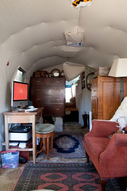 Julie's Artist In Residence Modified Airstream Trailer Gypsy Caravan (View #3)