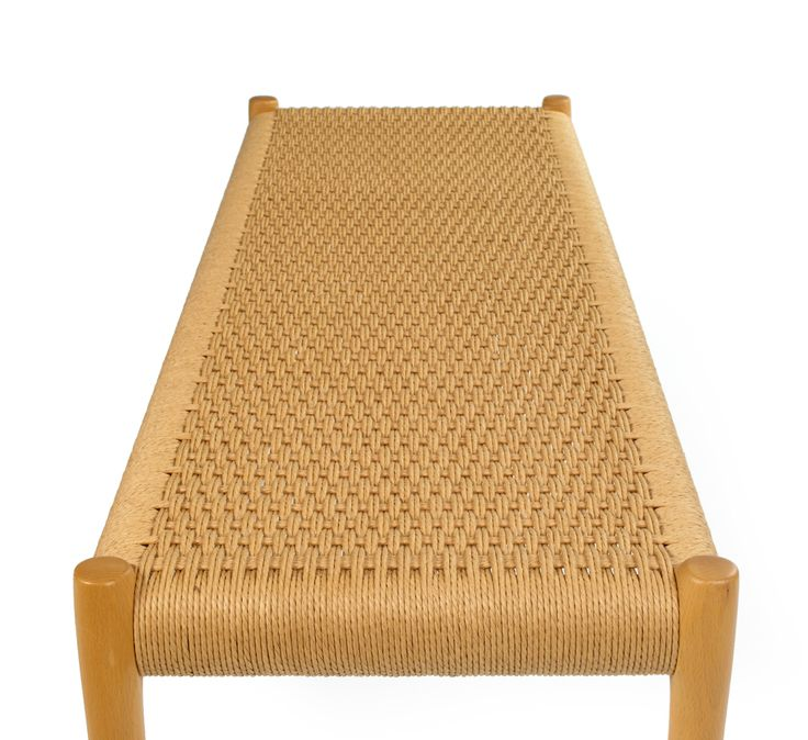 Woven Seat and Beech Frame Bench by Niels O. Møller   From a unique collection of antique and modern benches at https://www.1stdibs.com/furniture/seating/benches/