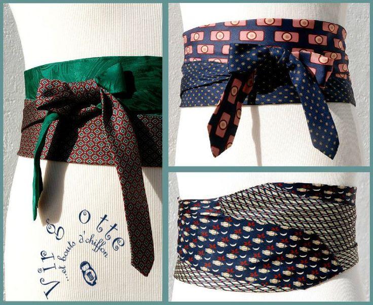 Inspiration Pic - this is made using men's ties.............lot ceinture cravates