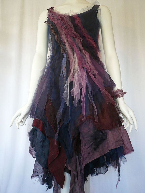 Weary Dreary Post Apocalyptic Upcycled Dress Prom by Zollection
