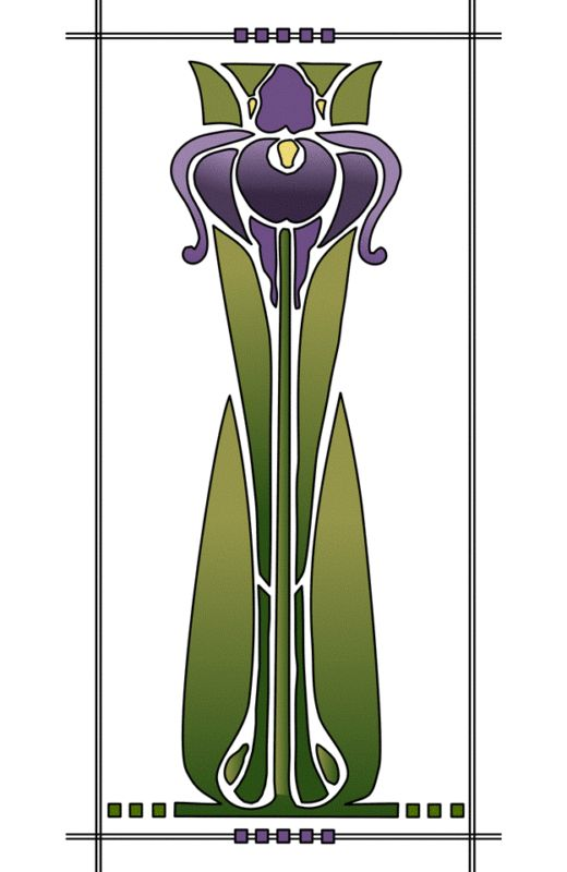 1000 images about flowers iris on pinterest for Art deco flowers