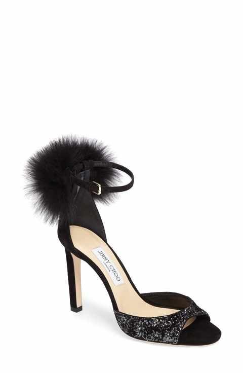 2a3156d69f9 Jimmy Choo Suri Genuine Fox Fur Sandal (Women)