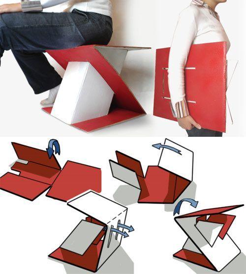 Portable Cardboard Stool
