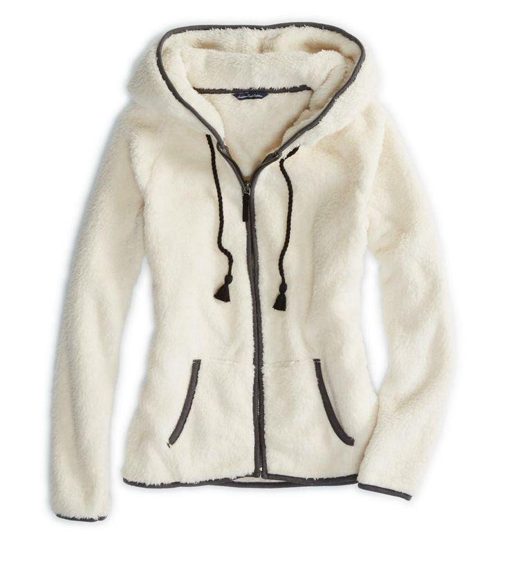 American Eagle - Cozy Faux Sherpa Hoodie (Sale $21.78 CAD)
