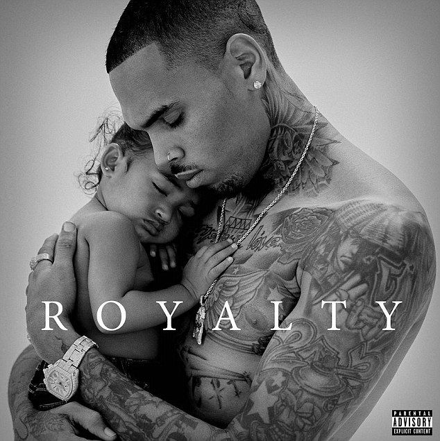Proud papa: Chris Browntook to Instagram on Friday and debuted the cover for his upcoming album, Royalty which he named after his little girl