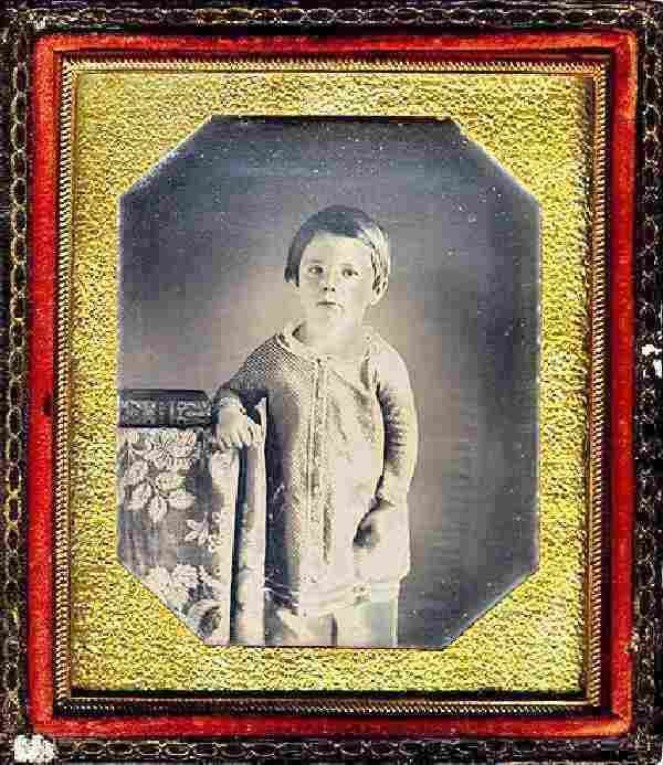 Photo of Edward Lincoln, the earliest photo of a presidential child-- taken about 1849.