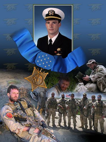 Medal of Honor recipient LT. Michael P. Murphy was killed in action in Afghanistan.  The events are recalled in the book The Lone Survivor.