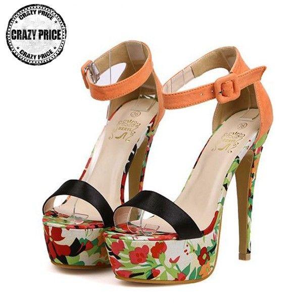 Flower power High Heel Sandaletten