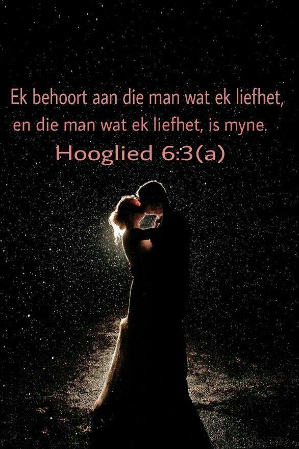 Hooglied 6:3a Ek is my beminde s'n, en my beminde is myne