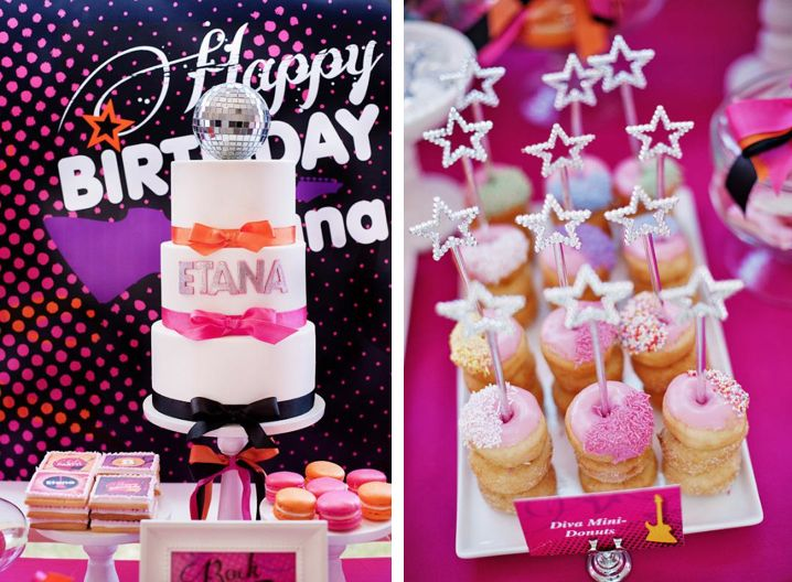 Girly rock star birthday party via Kara's Party Ideas - www.KarasPartyIde...