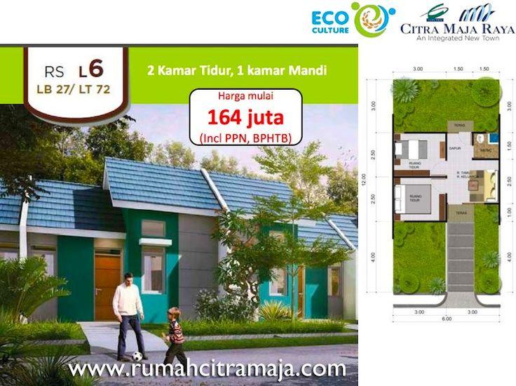 Rumah murah Citra Maja Raya tipe L6 harga 164 jutaan. #citramaja #rumahcitramaja #citramajaraya