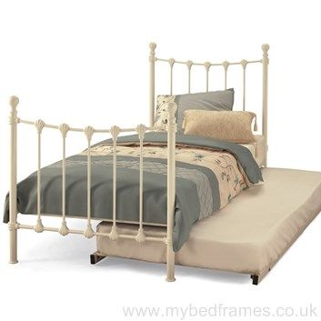 Marseilles metal #guestbed available in black or ivory #MyBedFrames