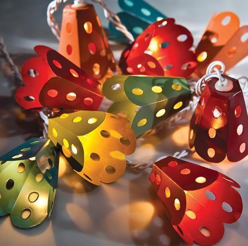 Multicolor Metal Lantern String Lights #L729