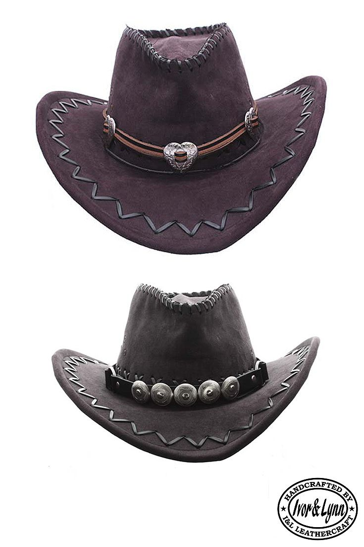 75cba15768795 Handmade leather heart concho hat band