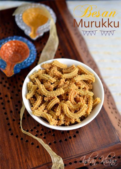 Besan Murukku Recipe  Easy, crunchy, soft murukku made with besan(chickpeas flour) it's different and delicious ..perfect for this Diwali