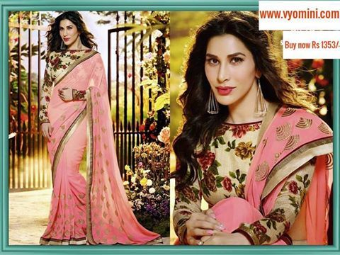 #VYOMINI - #FashionForTheBeautifulIndianGirl #MakeInIndia #OnlineShopping #Discounts #Women #Style #EthnicWear #OOTD #Saree Only Rs.1717/- and get Rs.364/- #CashBack,  ☎+91-9810188757 / +91-9811438585