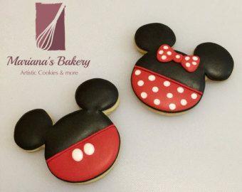 Galletas de Mickey Mouse 1 docena por MarianasBakery en Etsy