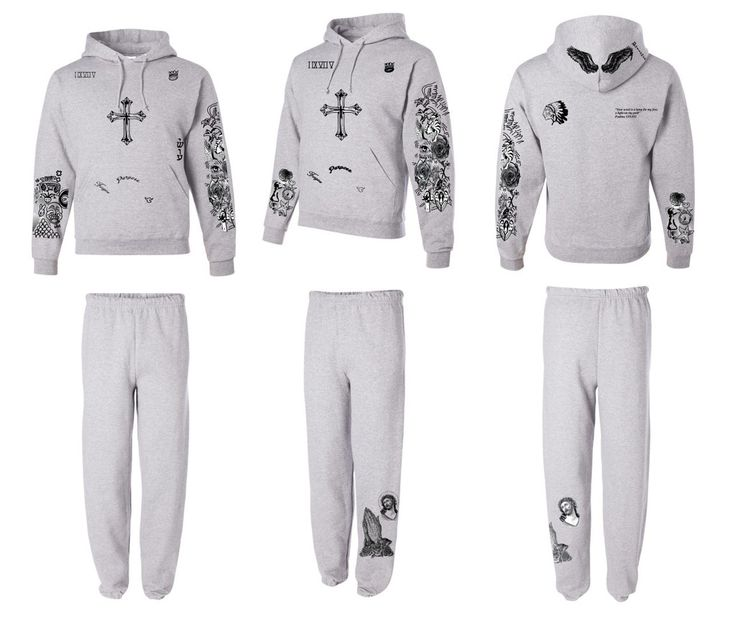 Justin Bieber full body tattoo hoodie and sweatpants UNISEX ash. Full body…