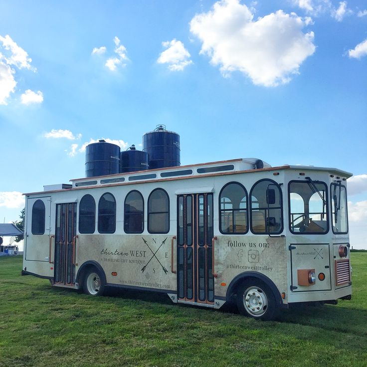 Thirteen West - a traveling gift boutique located in Davenport, Iowa | trolley shop | exterior remodel | bus renovation | mobile gift shop | boutique | mobile shop l mobile fashion truck | tiny home | mobile boutique | vehicle wrap | shop on wheels