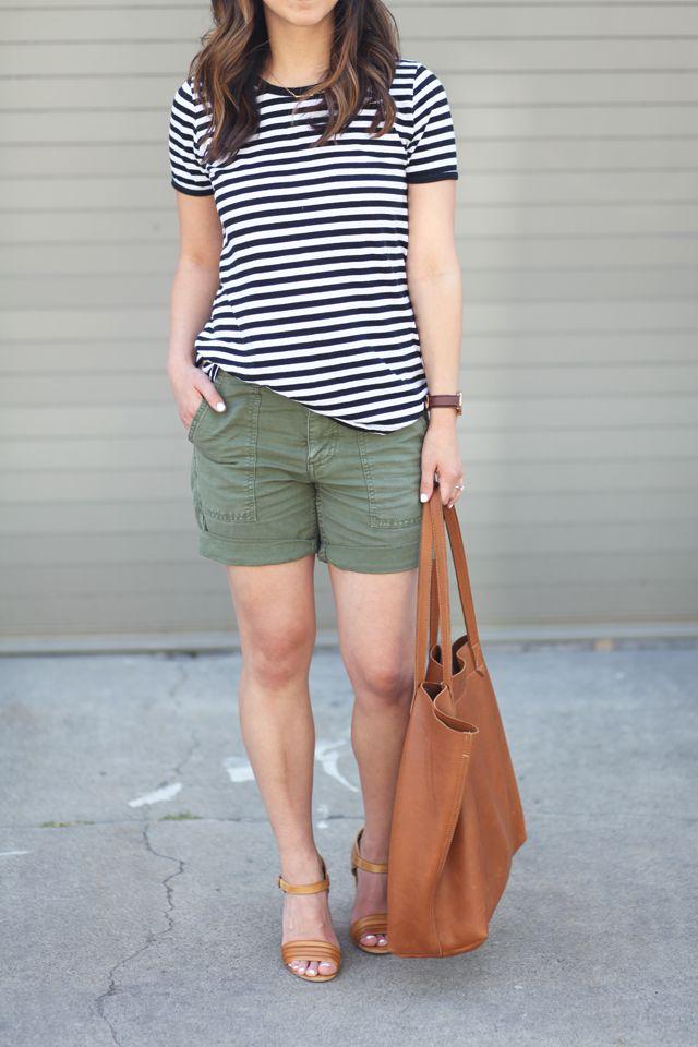 stripes + cargo shorts