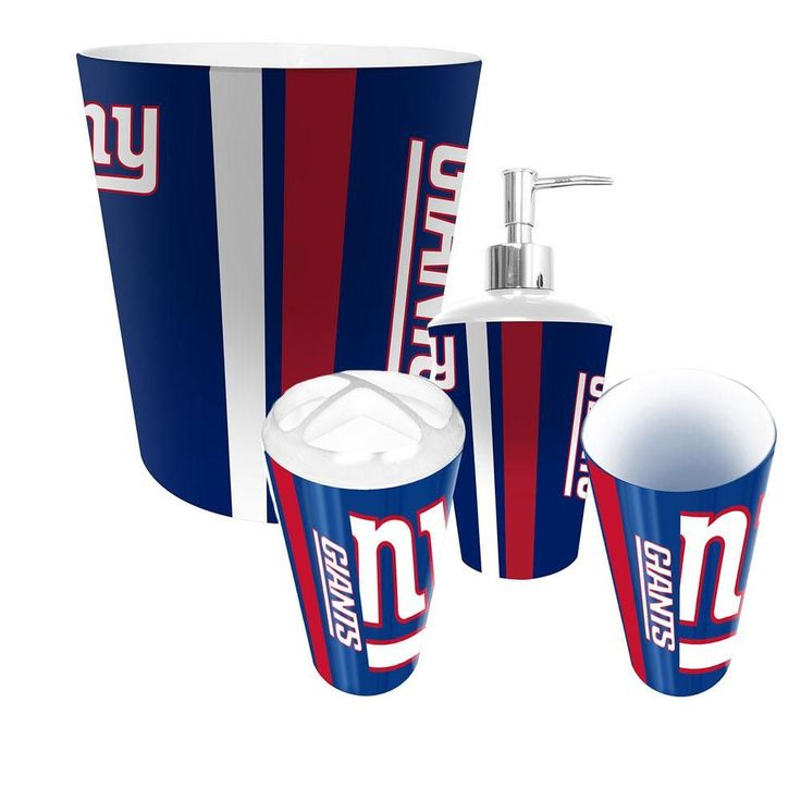 New York Giants NFL Complete Bathroom Accessories 4pc Set