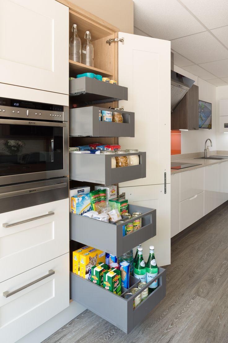blum legrabox space tower in orion grey blum legrabox larder storage storage. Black Bedroom Furniture Sets. Home Design Ideas