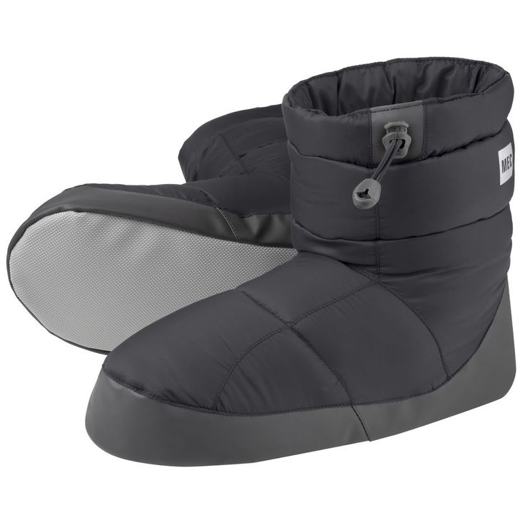 Lightweight, insulated booties perfect for stuffing in the bottom of your pack to reward hard-working feet. A protective rand and grippy surface lets you pad around on frozen surfaces or slick lino in hut kitchens. Synthetic fill under the rand protects the down, and extends their usefulness in damp conditions.