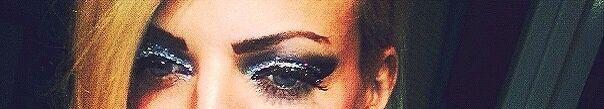 """Make up glitter argento """"project"""" ombretto argento """"kiko""""ombretto nero glitter mousse wjcon maxi ciglia eylure"""