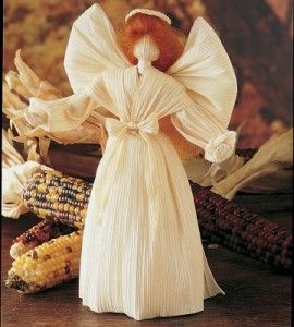 Angel Corn Husk Doll | Christmas Crafts | Corn Husk Crafts — Country Woman…