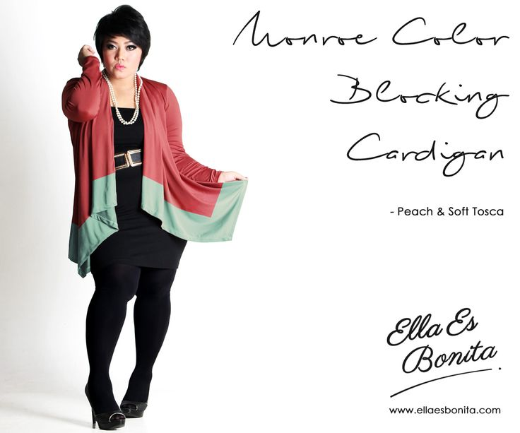 Monroe Color Blocking Cardigan - This cardigan features high quality jersey which specially designed for sophisticated curvy women originally made by Indonesian Designer & Local Brand: Ella Es Bonita. Available at www.ellaesbonita.com