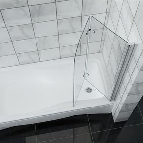 #Mampara de #baño plegable