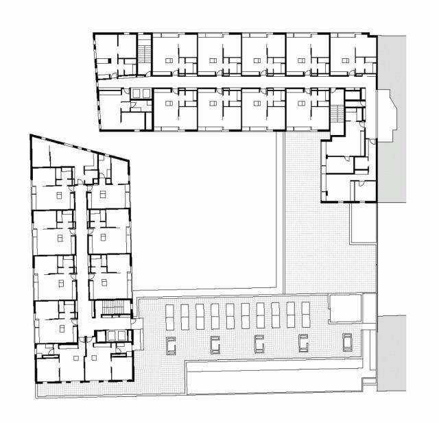 Plan Of Isokon Apartment Building