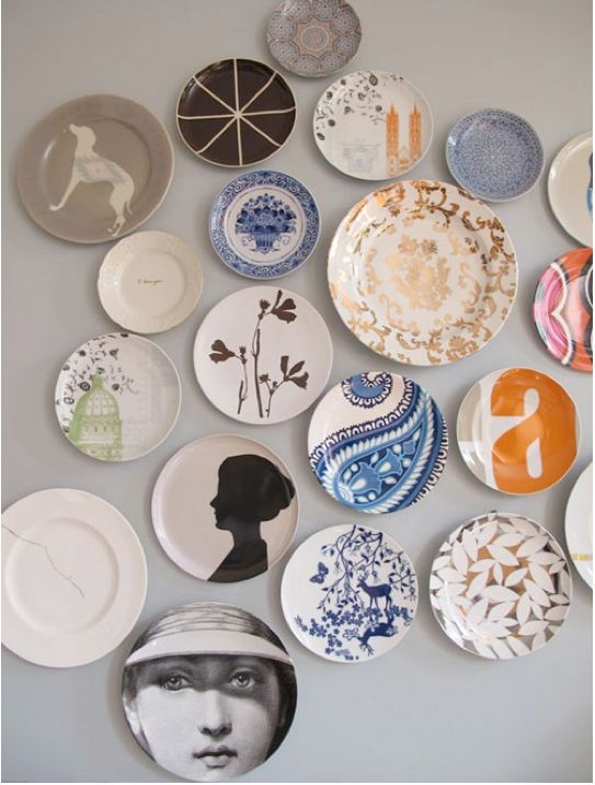 i really like plates on walls.  i don't think nick is very into it.