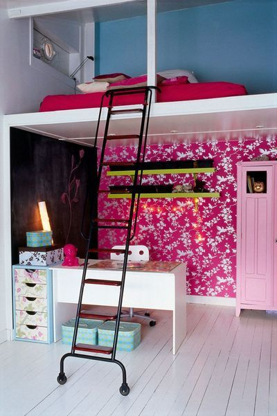 Best 25 mezzanine bed ideas on pinterest loft beds for small rooms bunkbeds for small room for Chambre loft ado