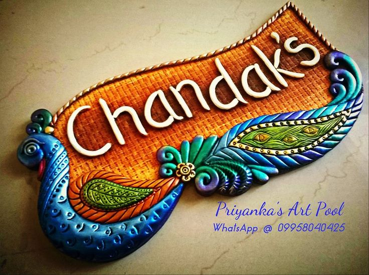 25 best name plates ideas on pinterest for Clay mural tutorial