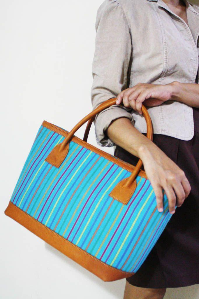 Prameswari Blue Lurik Bag - Djokdja Batik and Handicraft