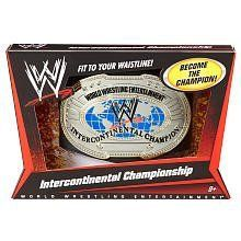 WWE Intercontinental Championship Title Belt by Mattel. $54.99. Show off your title with this championship belt. Collect all 4 Championship titles. Bring home the officially licensed WWE action. Like the ones worn by your favorite WWE Superstars. Features leather-like belt with adjustable waistline to fit kids of all ages. From the Manufacturer                World Wrestling Entertainment Championship Title Belt Collection: Show off your title with these championship belts, just ...