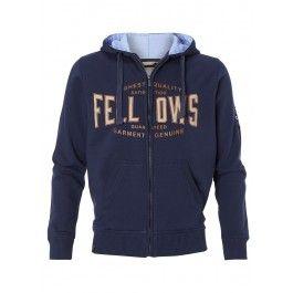 Verkrijgbaar tot maat 5XL !! Mooie hoodie van Fellows, kijk voor meer grote maten in onze webshop, www.wijnbergermode.nl