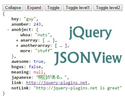 jQuery JSONView – Formats & Syntax Highlights JSON  #json #syntax #jQuery #highlight #editor #format #viewer #ff