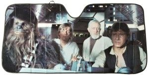 """Cute Easter Basket Ideas Boyfriend: For The Star Wars Fan Star Wars Accordion Sunshade Universal in size 0.25″W x 57″D x 28H"""". He will be the envy of his nerdy friends and receive cool points from all strangers within proximity when displayed. An elastic strap keeps shade folded during storage.  http://awsomegadgetsandtoysforgirlsandboys.com/cute-easter-basket-ideas-boyfriend/ Cute Easter Basket Ideas Boyfriend: For The Star Wars Fan"""