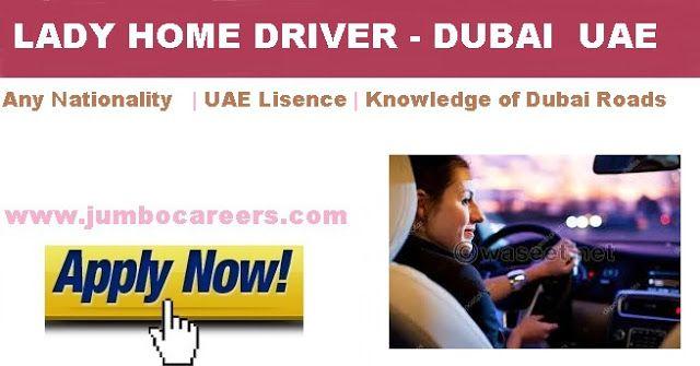Female Driver jobs in Dubai 2018, Home driver jobs for
