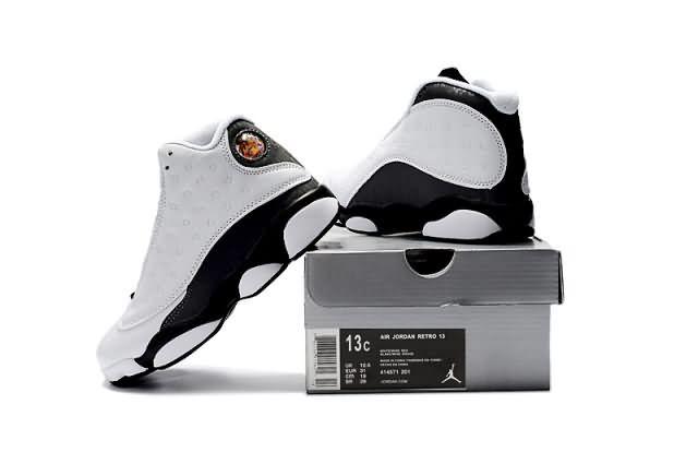 Cheap Jordan 13 Kid 2017 shoes white Black whatsapp:8613328373859