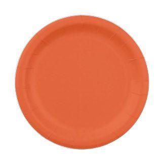 Custom Orange Paper Plate 7 Inch Paper Plate